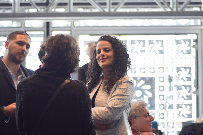 Honey Thaljieh before a debate at the Institut du Monde Arabe in Paris, June 13 2019