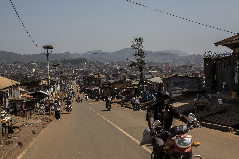 Moja ya maeneo ya mji wa Butembo, Kivu Kaskazini, kitovu cha mlipuko wa virusi vya Ebola, mashariki mwa DRC.