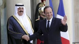 Отношения Франции и Саудовской истории имеют долгую историю. Франсуа Олланд и саудовский принц Абдалла бен Абдель Азиз Аль Сауд 18 июня 2015 г.