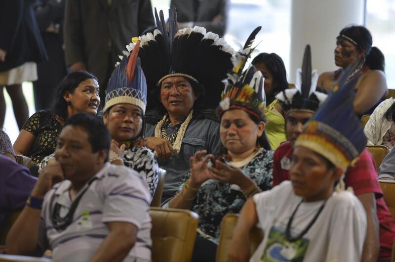Cerca de 60 índios acompanharam sessão do Supremo Tribunal Federal (STF) que julgava recursos contra as condicionantes previstas no processo de demarcação da Terra Indígena Raposa Serra do Sol.