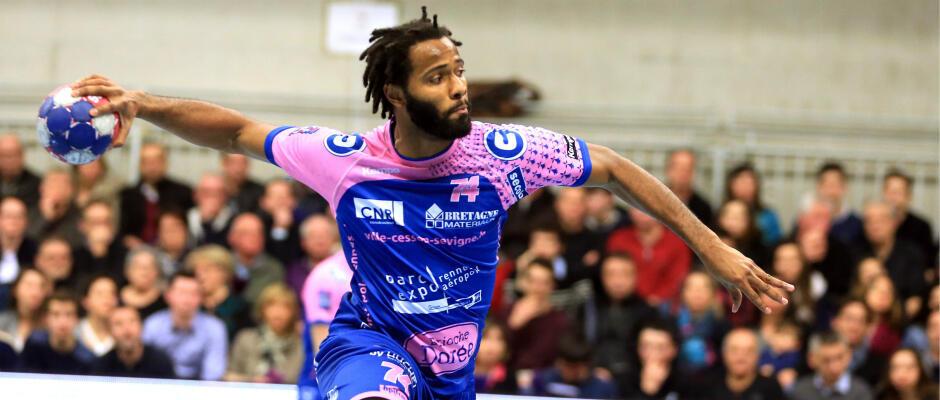Wilson Davyes, internacional português do Cesson Rennes. Imagem de Arquivo.