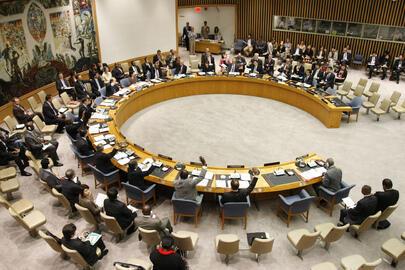 A sala do Conselho de Segurança da ONU, em Nova York.