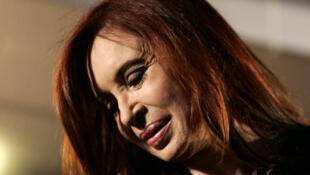 Cristina Kirchner  reelecta en la primera vuelta de las elecciones presidenciales de Argentina, el 23 de octubre de 2011.