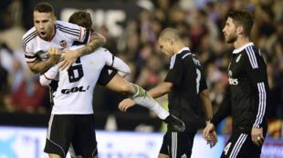 Real Madrid perd contre Valencia CF au stade Mestella, le 4 janvier 2014.