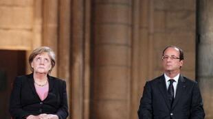 François Hollande et Angela Merkel.