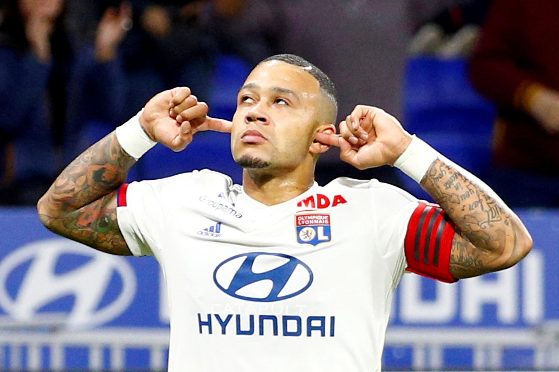 Memphis Depay scored Lyon's goal in their 2-1 defeat at Juventus..