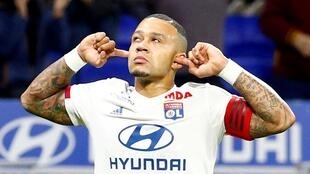 Memphis Depay scored Lyon's goal in their 2-1 defeat at Juventus..