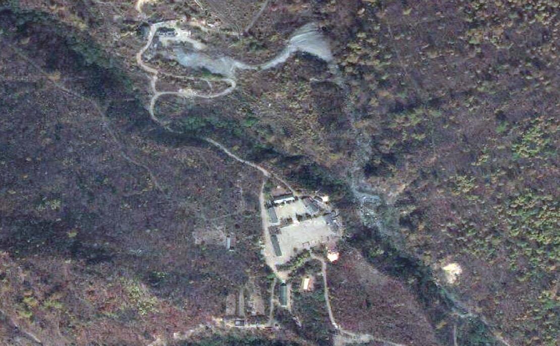 عکس هوایی از تأسیسات اتمی پونگیه ری