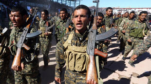 Ảnh tư liệu: Chiến binh thuộc Lực Lượng Dân Chủ Syria (FDS) tại Raqqa (Syria) ngày 27/10/2018.