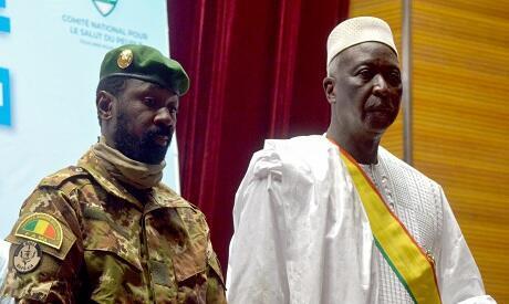 Bah Ndaw ni a ka dankan Assimi Goita, Bamako, Mali.