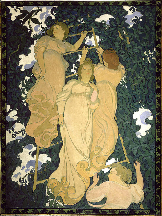Морис Дени. Лестница в листве. 1892. Департаментальный музей Мориса Дени в Сен-Жермен-ан-Ле.