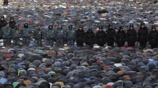 Празднование Курбан-Байрама в Москве 15/10/2013