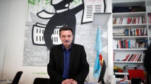 O fundador e diretor do Mediapart, Edwy Plenel.