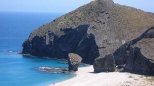 Praia dos Mortos, na cidade de Carboneras