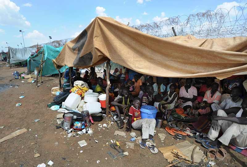 Des déplacés dans un camp du Kordofan du Sud, Soudan.