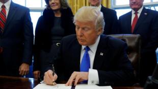 Donald Trump, le 27 janvier 2017, à la Maison Blanche.