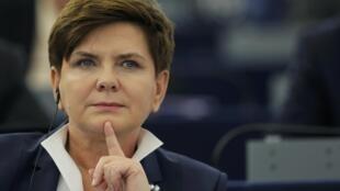 Beata Szydlo, Premier ministre de la Pologne.