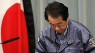 O primeiro-ministro japonês Naoto Kan