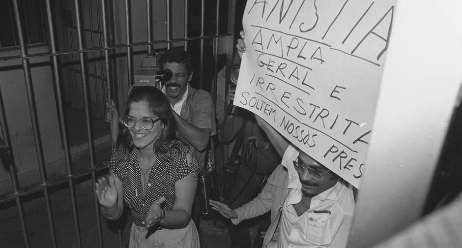 Ines Etienne Romeu, seule survivante de la maison de la mort sous la dictature militaire au Brésil, libérée grâce à la loi d'amnistie de 1979.