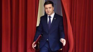Volodymyr Zelenskiy, le 6 mars 2019, à Kiev.