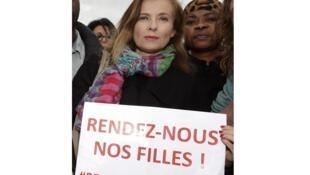 Бывшая Первая леди Франции Валери Триервейлер на пл. Трокадеро в Париже 13/05/2014