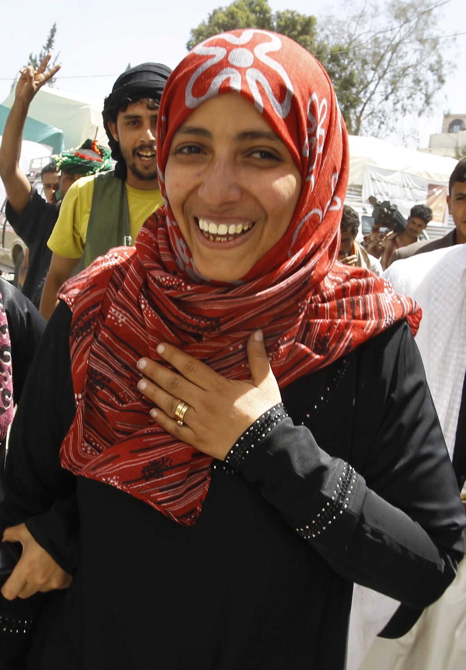 Nự cười rạng rỡ của Tawakkul Karman