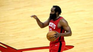 James Harden sous le maillot des Rockets contre les Los Angeles Lakers à Houston, le 10, janvier 2021
