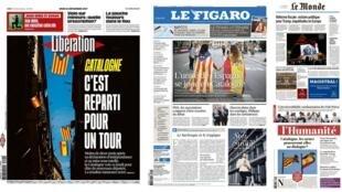 A eleição na Catalunha está em destaque nos jornais franceses desta quinta-feira (21).