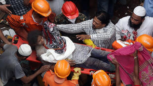 Wurin da aka samu ibtila'in rushewar gini a  Bhiwandi na India