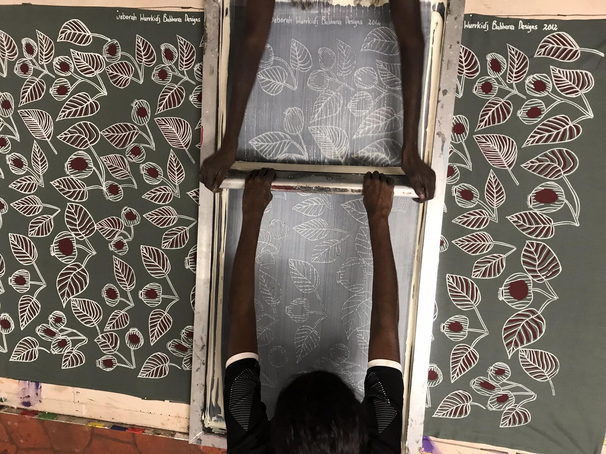 Babbarra Women's Centre, screen printing process, Maningrida, Australia