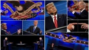 美国总统特朗普与民主党总统候选人拜登资料图片