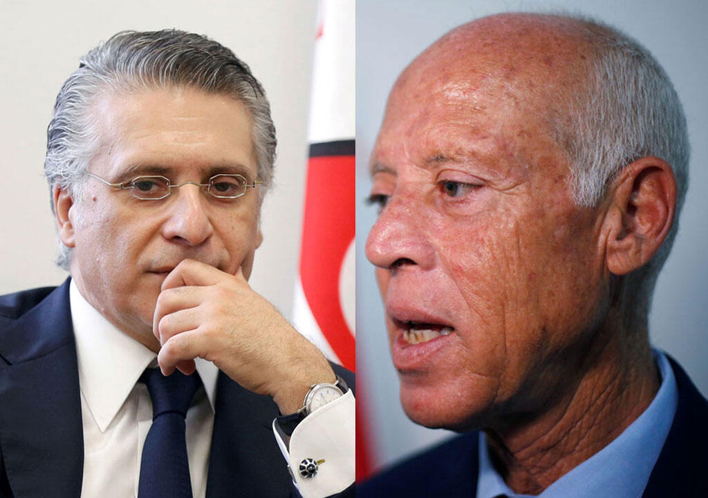 Kais Saied (l) et Nabil Karoui (r) have qualified for the second round of presidential elections in Tunisia 2019