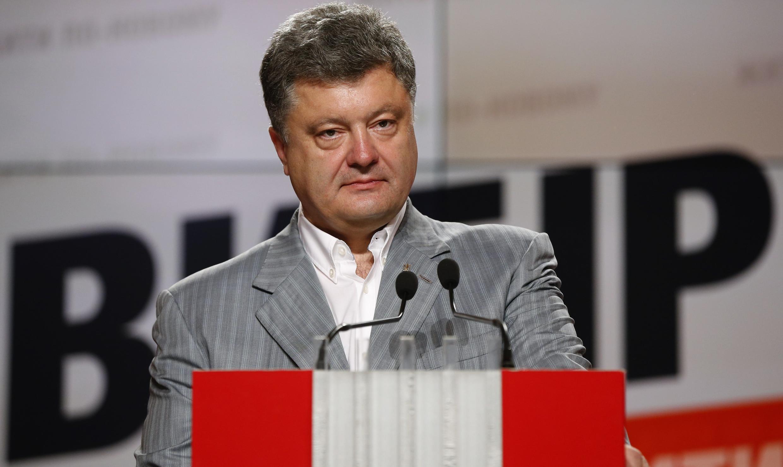 Presidente eleito da Ucrânia Petro Poroshenko.