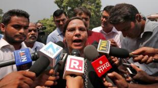La abogada india Farha Faiz se felicitó por el fallo del Tribunal Supremo en contra del divorcio por repudio express en la comunidad musulmana. 22 de Agosto de 2017.