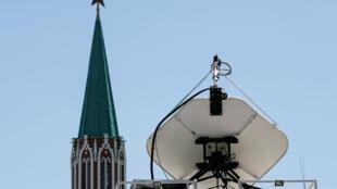Передающая ТВ-антенна вблизи Красной площади
