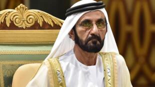 El emir Mohamed bin Rashid al Maktum asiste a una sesión de la cumbre del Consejo de Cooperación del Golfo, el 10 de diciembre de 2019 en Riad, la capital saudí