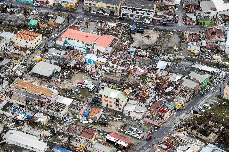 "Последствия от урагана ""Ирма"" в нидерландской части острова Сен-Мартен, 6 сентября 2017 г."