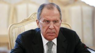 Sergueï Lavrov, le 14 avril 2014 à Moscou.