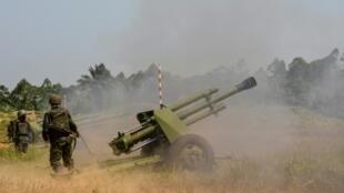 Des militaires des FARDC en opération (image d'illustration).