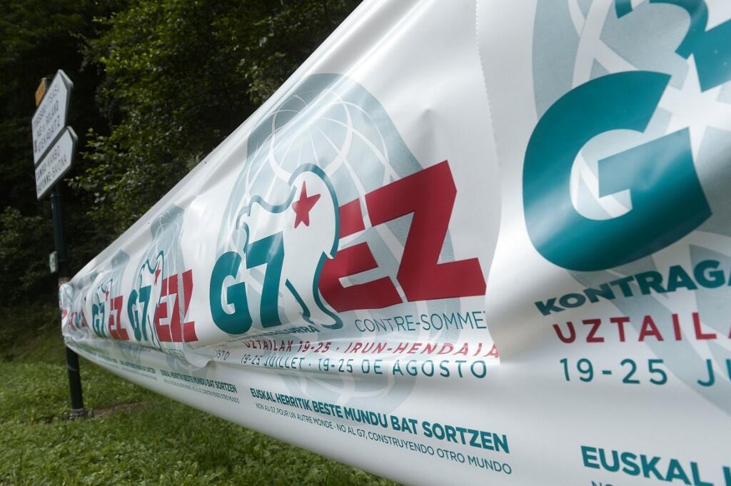 La Contra Cumbre al G7 reune en Hendaya e Irún, frontera franco española, a una plataforma alternativa compuesta por unas 150 organizaciones, entre ellas OXFAM