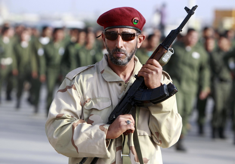 Mmoja wa wanajeshi wa jeshi la waasi nchini Libya