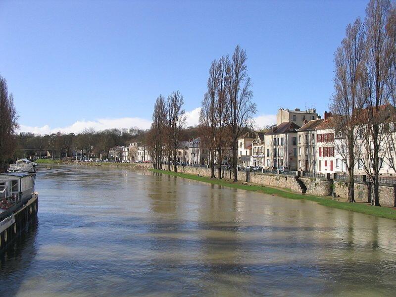 La Seine à Melun, en temps normal.