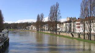 La Seine à Melun, en temps normal.