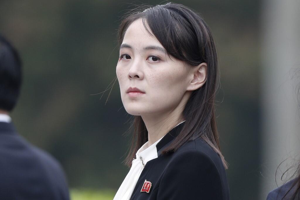 图为朝鲜领袖金正恩胞妹金与正 资料照片