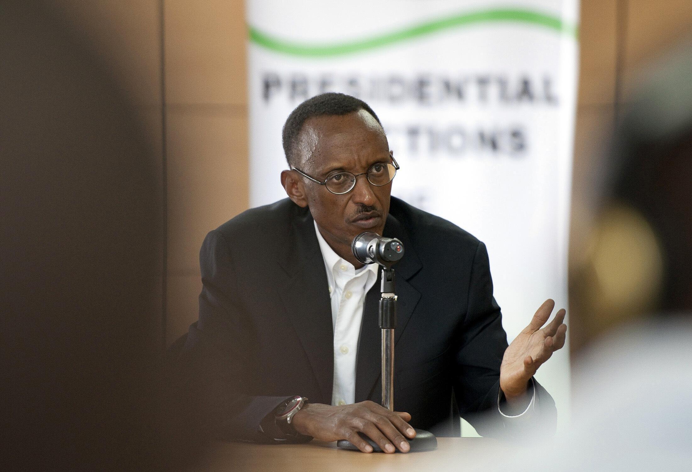 Le président rwandais Paul Kagame, à Kigali, le 24 juin 2010.