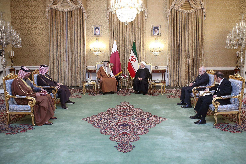 امیر قطر روز یکشنبه ۱۲ ژانویه/۲۲ دی به منظور دیدار و گفتوگو با مقامهای ایرانی وارد تهران شد.