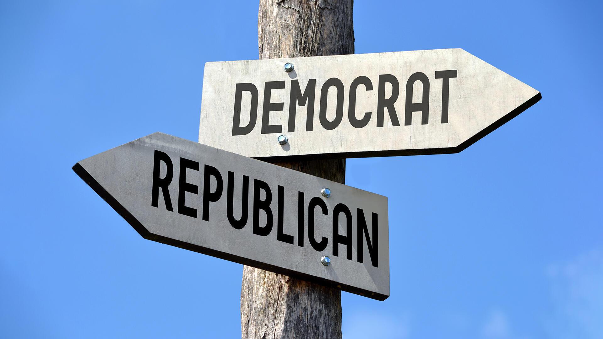 États-Unis - Démocrates - Républicains