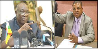 Rais Michel Djotodia (kushoto) na Waziri mkuu Nicholas Tiangaye (kushoto)