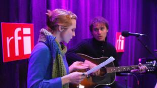 Lidwine et Franck Monnet à RFI.