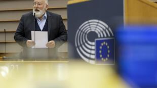 Frans Timmermans en charge du Pacte vert à la Commission européenne, le 6 octobre 2020 à Bruxelles.